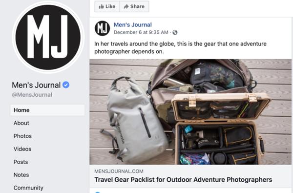 Best Travel Gear for Outdoor Adventure Photographers feature for Men's Journal.   December 2020.  https://www.mensjournal.com/adventure/the-packlist-travel-gear-for-outdoor-adventure-photographers/