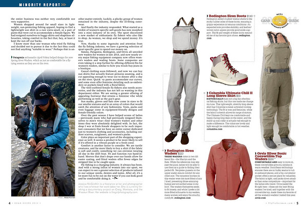 Fly Fisherman magazine feature.