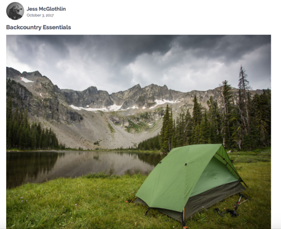 Written and photographed: backcountry fly fishing and backpacking essentials feature for DIY Fishing.  https://diyfishing.com/2017/10/03/backcountry-essentials/
