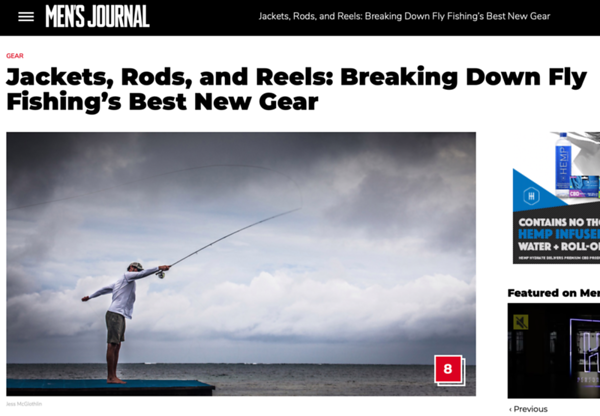 Men's Journal article about the best new fly fishing gear. Words + header image.  February 2020.  https://www.mensjournal.com/gear/fly-fishings-best-new-gear/
