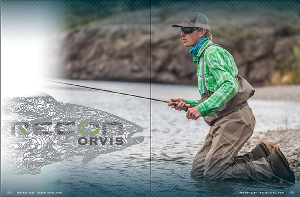 Image of Jake Gates while on Orvis photo shoot.  Work created in-house with The Orvis Company, Manchester, Vermont.