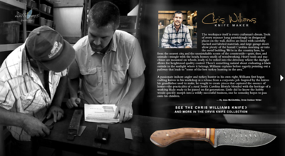 Imagery and copy written on assignment for Orvis in Charleston, South Carolina, with knife maker partner.  Work created in-house with The Orvis Company, Manchester, Vermont.