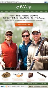 Modeling for sporting clays shoot in Sandanona, New York.  Work created in-house with The Orvis Company, Manchester, Vermont.