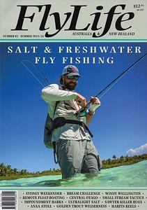 FlyLife Australia magazine cover.  Summer 2015.