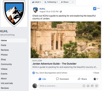 Facebook page.