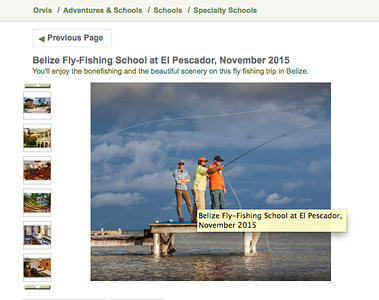 Orvis website, summer 2015.