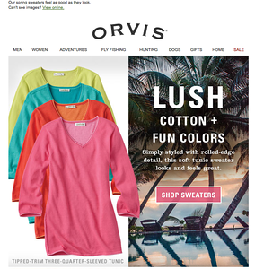 Orvis email, spring 2015.