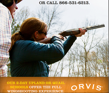 Modeling for Orvis wingshooting sporting clays advertisement.  Work created in-house with The Orvis Company, Manchester, Vermont.