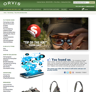 """Tip of the Hat"" Social sale copy.  Work created in-house with The Orvis Company, Manchester, Vermont."
