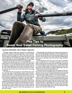 Editorial catalog content for Orvis. Image and words.  Work created in-house with The Orvis Company, Manchester, Vermont.