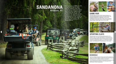 Imagery and copy on Orvis Sandanona and the Orvis Game Fair.  Work created in-house with The Orvis Company, Manchester, Vermont.