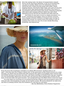 0725774ae7031 Magazine editorial written after assignment in Belize. Work created in-house  with The Orvis