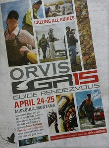 Event advertisement.   Work created in-house with The Orvis Company, Manchester, Vermont.