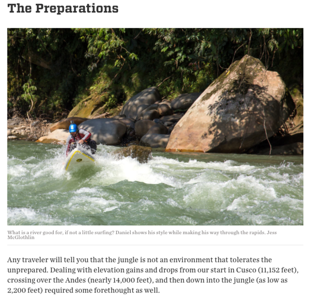 "Feature story for RootsRated.<br /> <br /> June 2017.<br /> <br /> <a href=""https://rootsrated.com/stories/into-the-amazon-what-it-s-like-to-sup-in-the-jungles-of-peru"">https://rootsrated.com/stories/into-the-amazon-what-it-s-like-to-sup-in-the-jungles-of-peru</a>"