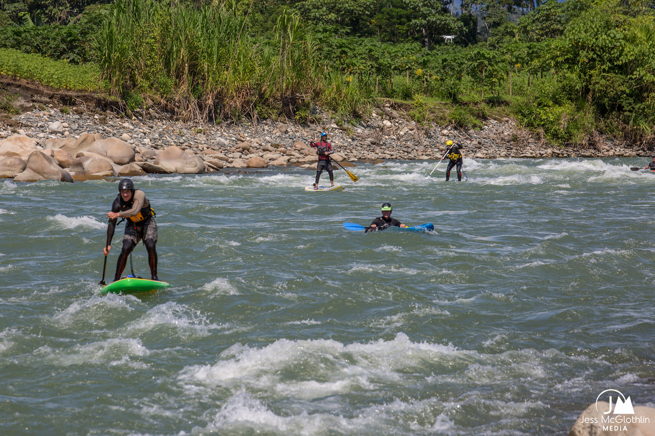 SUP first-descent expedition with Apumayo Expediciones and team on Peruvian Amazon jungle rivers.<br /> <br /> May 2017.