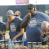 Contestants  compete in the Trenton Thunder Case`s  Pork Roll Eating Championship at Arm&Hammer Park on Saturday. gregg slaboda photo
