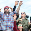 Fans cheer at the Trenton Thunder Case`s Pork Roll Eating Championship on Saturday. gregg slaboda photo
