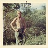 WC-8 Alan Allen (TX), 1st Platoon, 1st Squad, Fire Team A, shows abs in Vietnam he hasn't seen since.