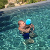 Cash getting dunked underwater by Uncle Elio (Cabos, Mexico)