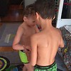Play fighting with lil bro