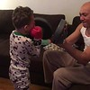 boxing practice with daddy