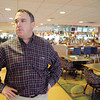 Raynham-Taunton Greyhound Race Track is trying to get one of the proposed slots parlors. Tom Carney the nephew of the owner of the track talks about the slots parlor as he gave a tour of the facility on Thursday.  SENTINEL & ENTERPRISE/JOHN LOVE
