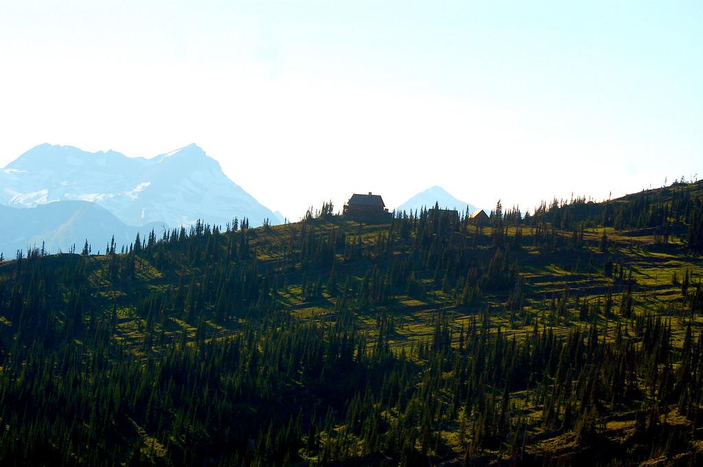 Granite Park Chalet, lone sentinel in the wilderness.
