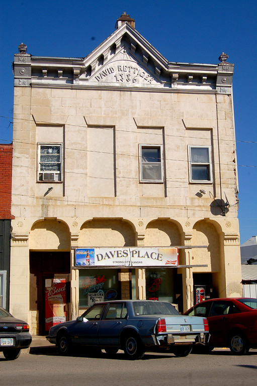 Strong City historic building.