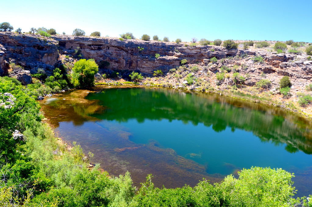 """""""Montezuma's Well is a detached unit of Montezuma Castle National Monument. It is located 11 miles north of Montezuma Castle, and is a great place for birding, nature watching, and exploring more Sinaguan dwellings.""""<br /> <br /> There is no addtional charge for visiting the Well."""