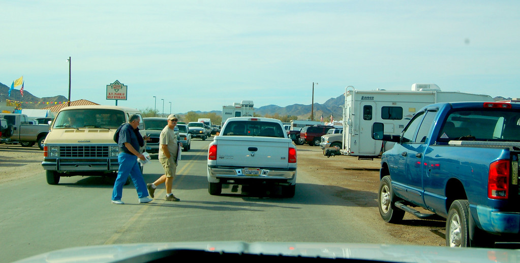 The town is starting to get crowded but I am told will get more so during the upcoming RV show.