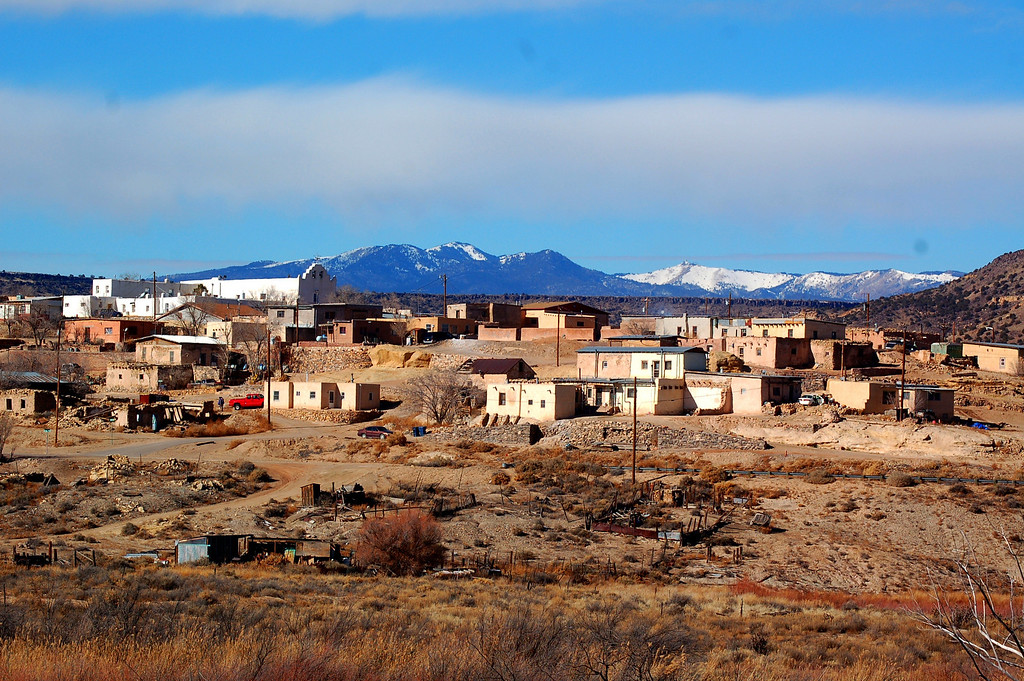 Town of Laguna, NM, a former Indian Pueblo village founded in 1699. The Mission church was built around 1706.
