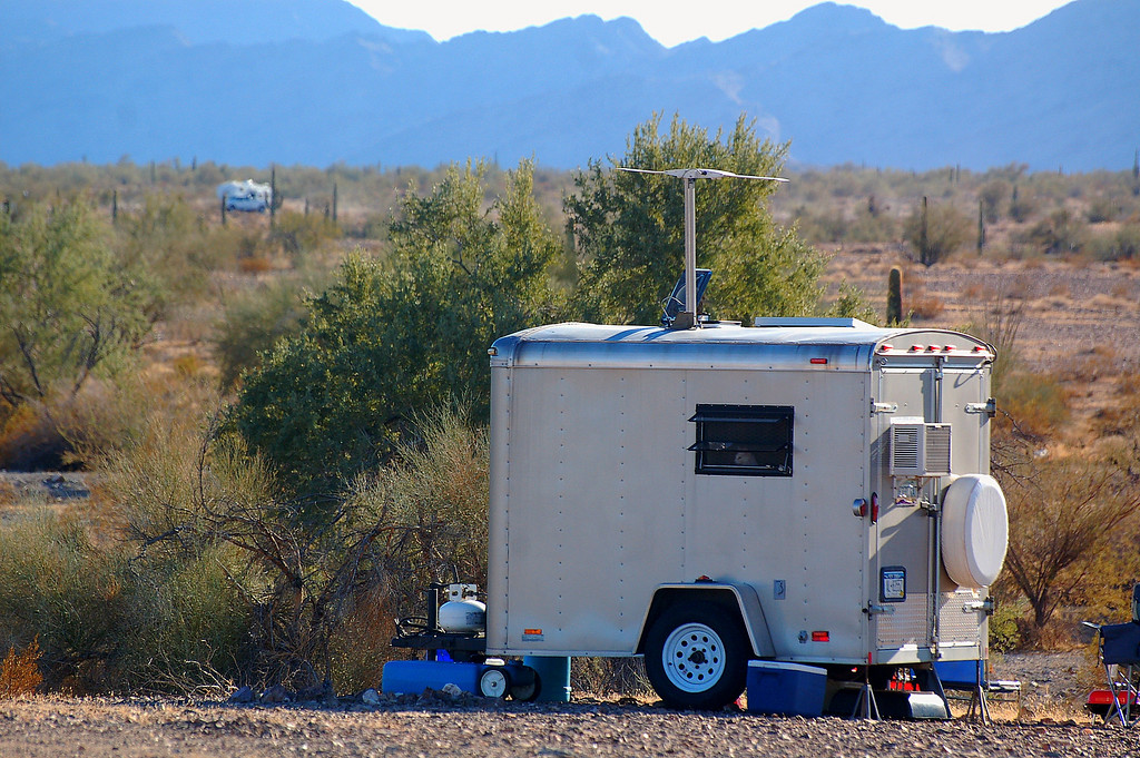 Many creative RV configurations were observed at Quartzsite.