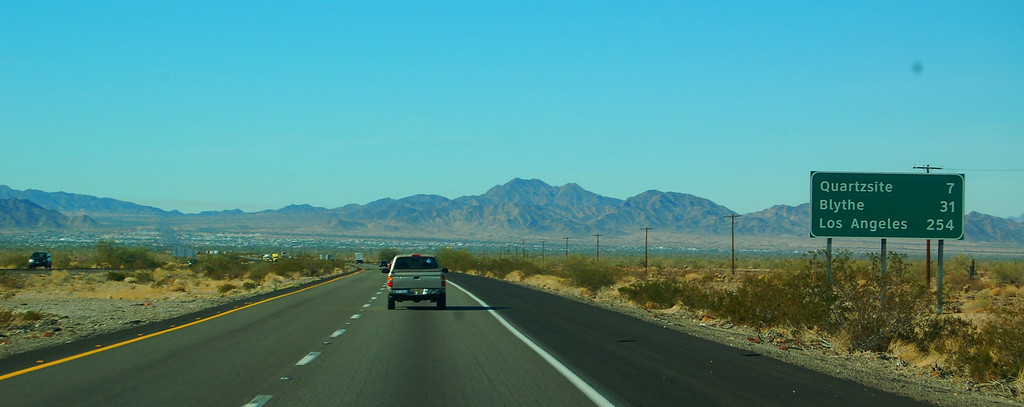 Approaching Quartzsite from miles away you can see thousands of trailers spread out across the desert.