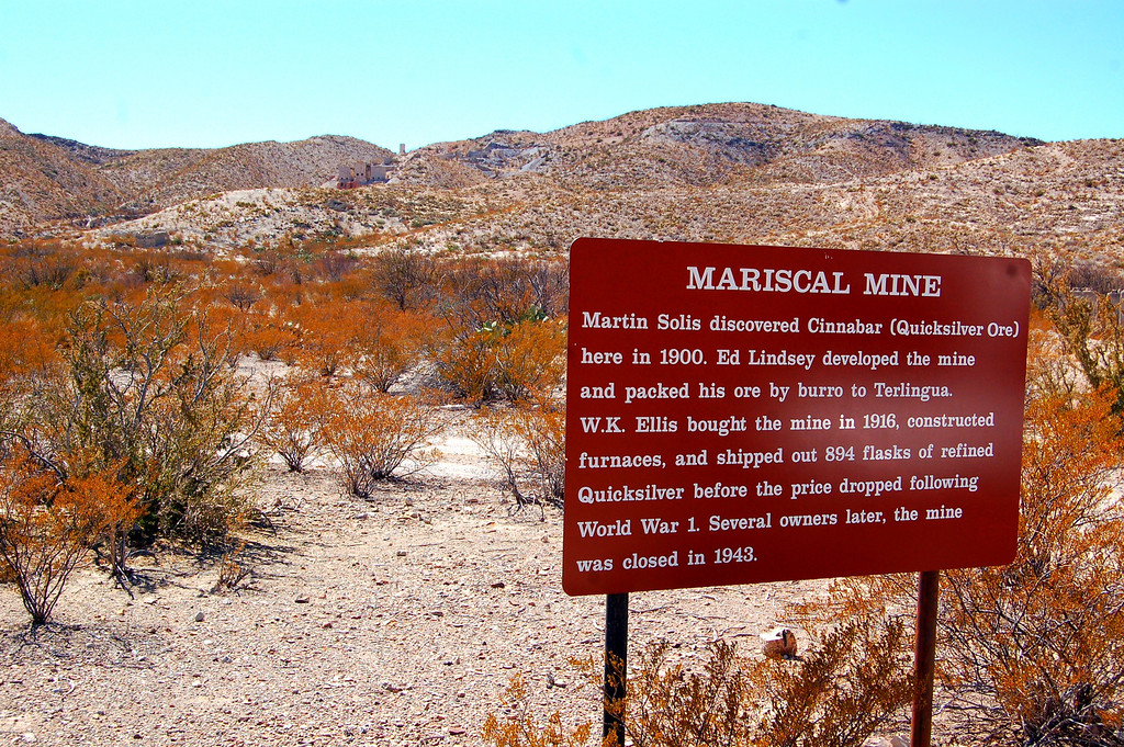 046<br /> Historic Mariscal Mine Distict - Quicksilver (mercury) was mined here.