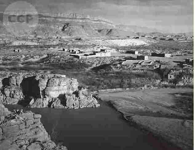 Title: Boquillas, Mexico from Boquillas Canyon Overlook, Big Bend National Park, TexasDate: ca. 1942, ca. 1947<br /> Credit line: Ansel Adams Archive