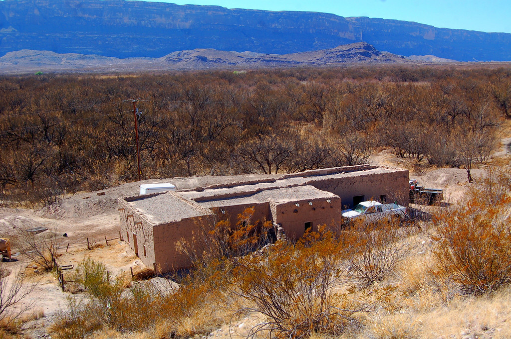 Alvino House, oldest surviving adobe structure in Big Bend Park. The Park Service is in the process of doing some repairs.