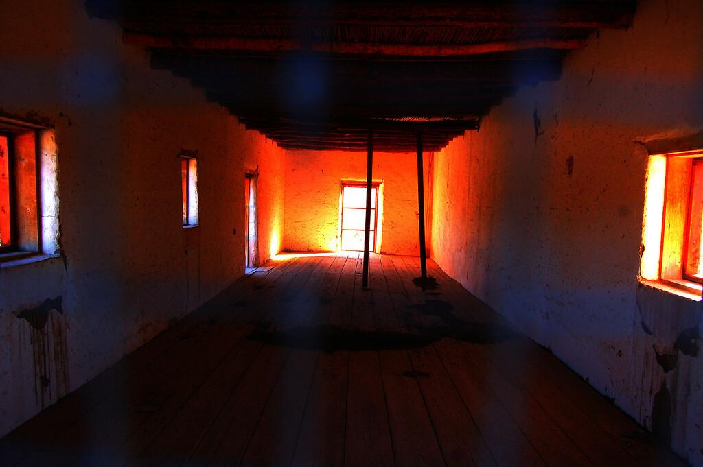 Sun filters through the old Harmonia Store