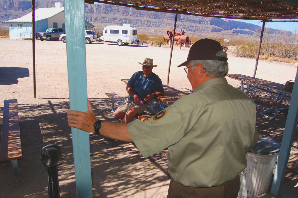 Ron Payne and his wife are volunteers at the Castolon Visitor's Center. They traveled and lived in two different Casita's for 8 years before buying their current 5th wheel.