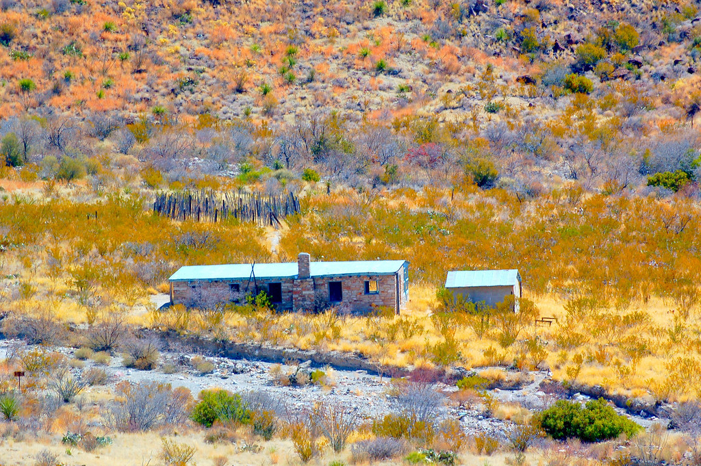 """Blue Creek Ranch Overlook<br /> <br /> """"This overlooks provides a view of the headquarters of the Homer Wilson Ranch, one of the largest in the region prior to the establishment of the park."""""""
