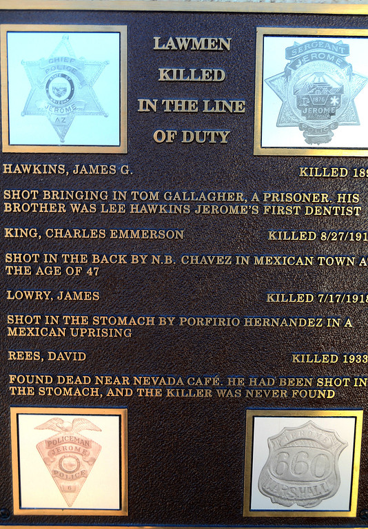 Being a lawman in Jerome was not a healthy profession.