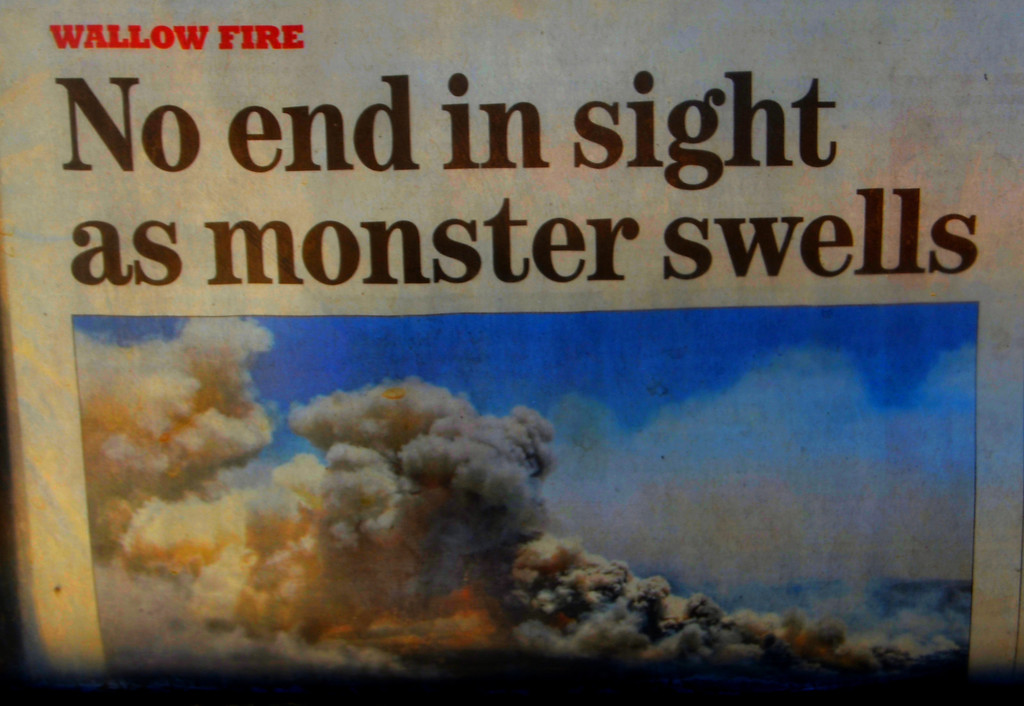 Wallow fire was grabbing all the headlines during my visit to Jerome. My travels kept me West of the devastation.