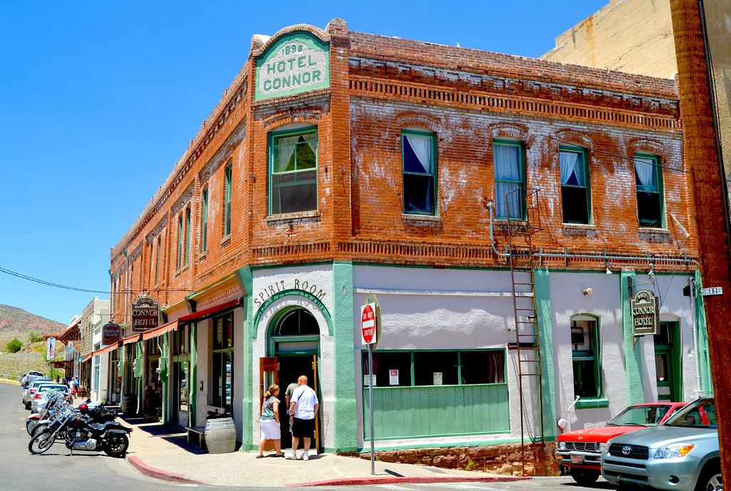 """""""Built in 1898 by David Connor, the Connor Hotel of Jerome has a colorful past, ranging from the heights of luxury to the depths of squalor and back again..""""<br />  <br />  <a href=""""http://www.connorhotel.com/history.htm"""">http://www.connorhotel.com/history.htm</a>"""