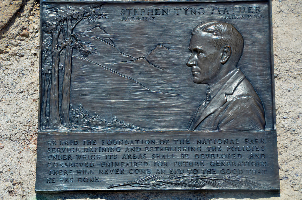 "If you have visited many National Parks you probably noticed plaques similar to this, sometimes in out of the way places. Stephen Mather was the first director of the National Park Service. His vision and efforts, to a large degree, made the National Park system the success it is today.<br /> <br /> When Stephen Mather died, the Park Service erected bronze plaques in every park with the words: ""There will never come an end to the good that he has done.""<br /> <br /> ""In 1914, self-made millionaire Stephen Mather visited Sequoia and Yosemite National Parks and was disgusted by what he saw. The hiking trails were in poor condition, cattle grazed in the meadows, and speculators had plans to log the majestic sequoia trees. Mather dashed off an angry letter to Secretary of the Interior Franklin K. Lane, who happened to be an old college schoolmate. Lane tersely replied that if Mather was unhappy with the way the parks were being administered, he should come to Washington and run them himself.<br /> <br /> Mather accepted the challenge. He showed up in Lane's office and agreed to oversee the national parks, but only for a year. With his ""incandescent enthusiasm"" and driven personality, Stephen Mather was the perfect man for the job."""