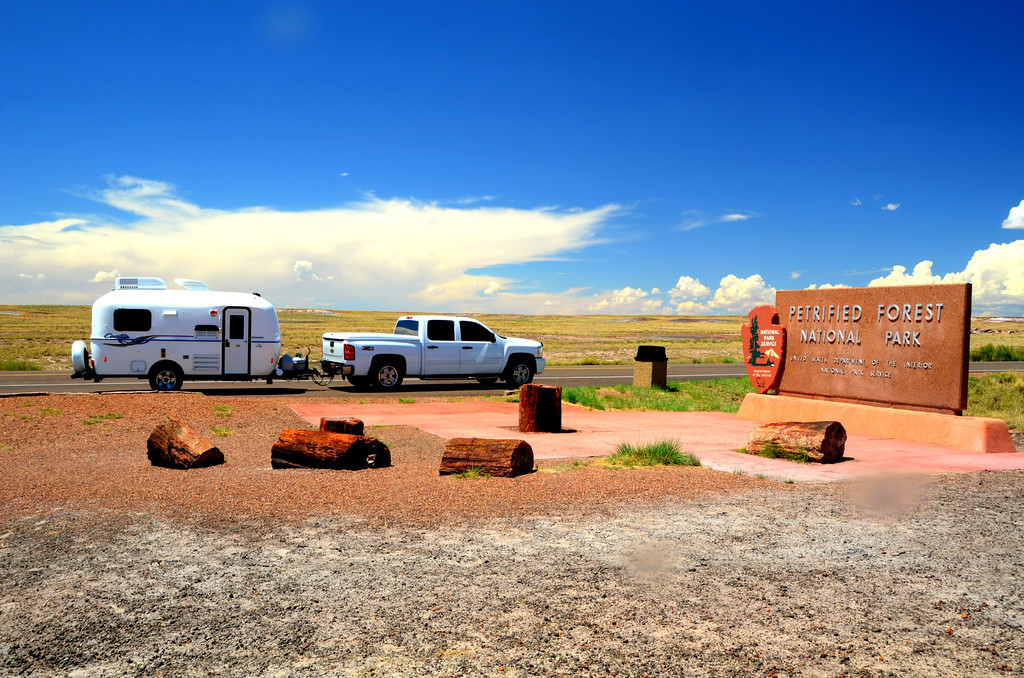 Highway 180 park entrance near Holbrook, Arizona