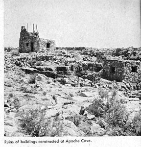 """Note similarity of this old picture to previous picture. The """"pueblo"""" was built to look like Indian ruins."""