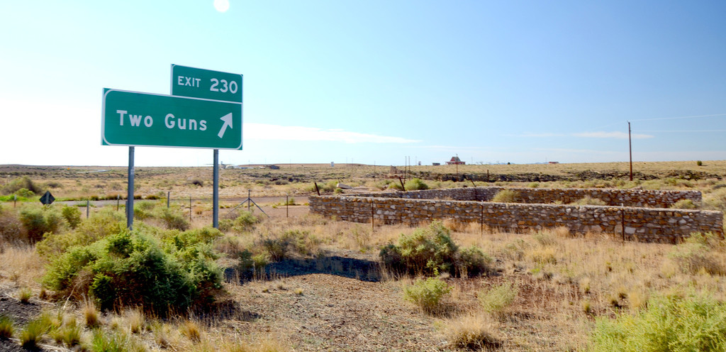 ..at Exit 230 are the remains of Two Guns, Arizona.