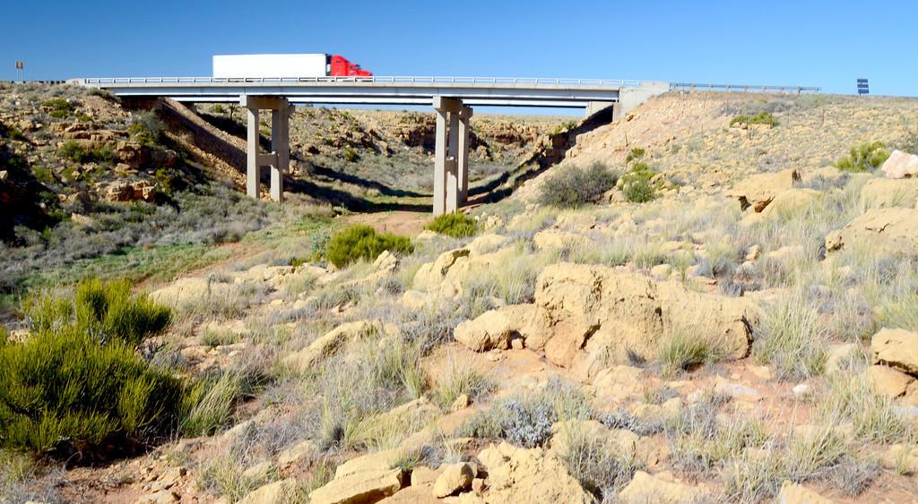 I-40 traffic over the Diablo Canyon bridge.