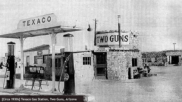 First gas station at Two Guns.
