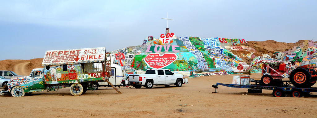"""See Chapter 7 about Leonard Knight and Salvation Mountain contained in a Cal Poly, 2010 Master Thesis by Molly Elaine Sheehan.<br /> <br />  <a href=""""http://digitalcommons.calpoly.edu/cgi/viewcontent.cgi?article=1470&context=theses"""">http://digitalcommons.calpoly.edu/cgi/viewcontent.cgi?article=1470&context=theses</a>"""
