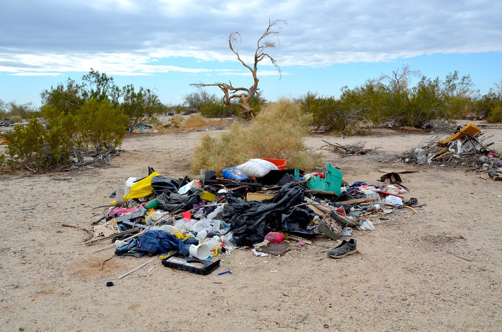 Trash has become a major problem at Slab City that they are actively addressing.
